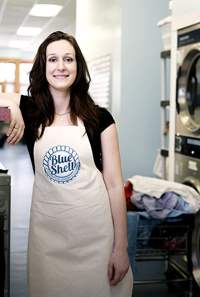 Danielle, Attendant at Blue Sheel Laundry